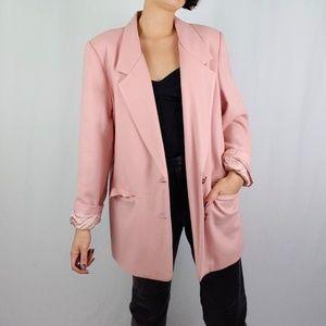 Vintage pastel pink wool blazer